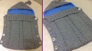 getlinkyoutube.com-El Örgüsü Bebek Tulumu (Bebek Battaniyesi) Nasıl Yapılır? - örgü battaniye modelleri - örgü bebek