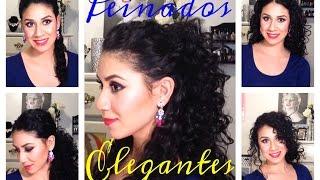 getlinkyoutube.com-Peinados fáciles de Fiesta para cabello Rizado!