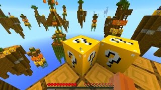 getlinkyoutube.com-Minecraft HALLOWEEN LUCKY BLOCK SKY WARS #1 w/ Vikkstar, Woofless, BajanCanadian, Lachlan & Preston