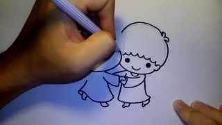 getlinkyoutube.com-ลิตเติ้ลทวินสตาร์ Little Twin Star by วาดการ์ตูนกันเถอะ สอนวาดรูป การ์ตูน
