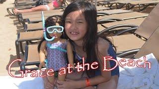 getlinkyoutube.com-American Girl Doll Grace at the  Beach