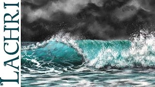 getlinkyoutube.com-How to paint a wave - speed painting w/ Lachri