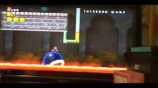 "getlinkyoutube.com-改造New Super Mario Bros. Wii 1-城 ""ラリーのトラップキャッスル"""