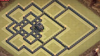 Clash Of Clans | BEST TH9 War Base w/ Defense Replays (Anti-GoWiPe & Anti-Hound/Bloons)