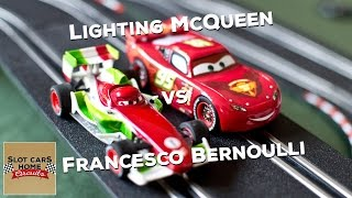 Lighting McQueen & Francesco Bernoulli Slot CARS Disney Pixar Carrera GO Neon Track