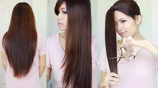 getlinkyoutube.com-The Best Hair Hack ♥ How to Cut & Layer Your Hair at Home
