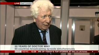 getlinkyoutube.com-Tom Baker talks about Doctor Who 50th Anniversary (BBC News, 23.11.13)