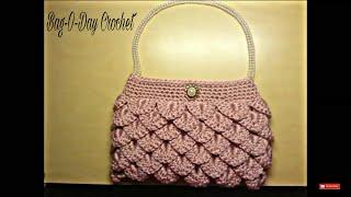 getlinkyoutube.com-Crochet How To #Crochet crocodile stitch clutch purse Tutorial #5 LEARN CROCHET