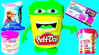 getlinkyoutube.com-Cubeta de Play Doh Juguetes Sorpresa Disney Lalaloopsy Frozen Play Doh Bucket with Toys!Mundo de Jug