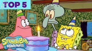Top 5 Biggest Bikini Bottom Partayyys 🎉 | SpongeBob SquarePants | Nick width=