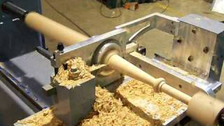 getlinkyoutube.com-Motioncat CNC Wood Lathe Square Spindle Turning