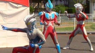 getlinkyoutube.com-ウルトラマンスペシャルショー ギンガS、ゼロ、エース 3 人の共演!ウルトラマンベリアル登場!ブレなし高画質  Ultraman show kidsshow
