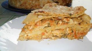 getlinkyoutube.com-Мясной пирог из лаваша. Рецепт