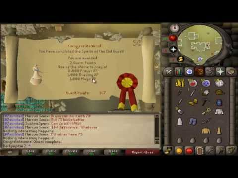 Runescape 07 Sprits of the Elid Quest Guide