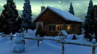 getlinkyoutube.com-Снегопад Дом Снеговик футаж HD