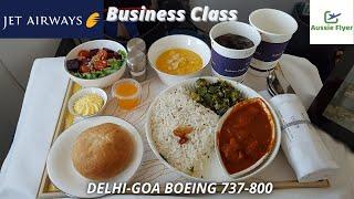 Jet Airways B737-800 Business Class ✈ Mumbai to Goa 9W472 (NEAR BIRD STRIKE!)