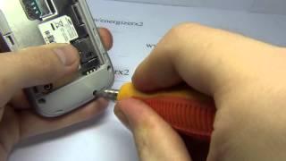 getlinkyoutube.com-Samsung Galaxy Mini 2 GT-S6500 Disassembly Energizerx2