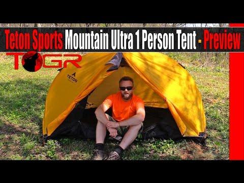 Teton Sports Mountain Ultra 1 Person Tent - Preview