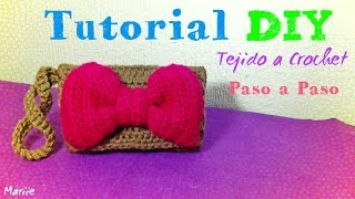 getlinkyoutube.com-Clutch purse con Moño !! Tejido a Crochet