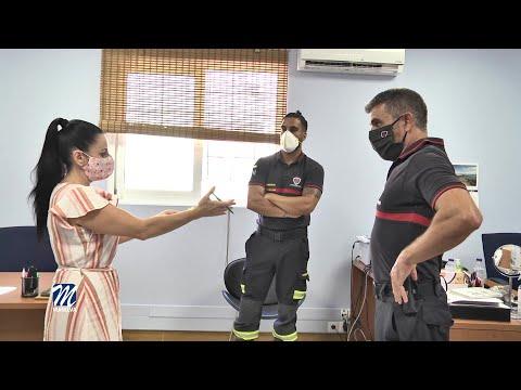 Nos visitan los bomberos del GERCCMA que han estado en Beirut