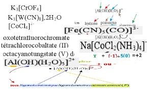 chimie des solutions Nomenclature des complexes smpc/s2 partie#73