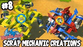 getlinkyoutube.com-Scrap Mechanic CREATIONS! - AMAZING BEYBLADES! [#8] W/AshDubh   Gameplay  