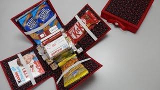 getlinkyoutube.com-Caixa de lanches - Cartonagem - Artesanato - Passo a passo