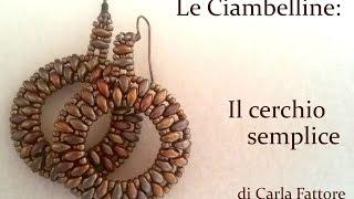getlinkyoutube.com-DIY Tutorial Orecchino Cerchio con SuperDuo e Rocailles