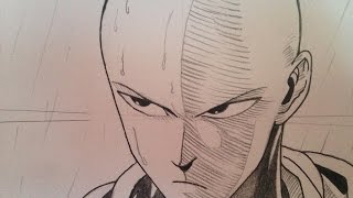 getlinkyoutube.com-how to draw Saitama from One punch Man (step by step tutorial)