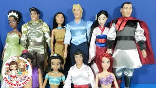 getlinkyoutube.com-Disney Princes Toy Opening Prince Charming, William, Eric with Disney Princess