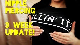 getlinkyoutube.com-3 Week Nipple Piercing Update!   In-Depth!
