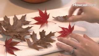 Kako da napravite dekoraciju od jesenjeg lišća