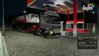 getlinkyoutube.com-Euro Truck Simulator 2 Mercedes Benz Actros With Indonesian Train Locomotive Trailer