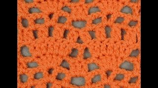 getlinkyoutube.com-Crochet : Punto Abanico # 7