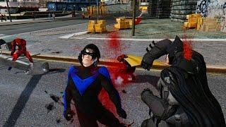 getlinkyoutube.com-BATMAN TEAM VS SPIDER-MAN CARNAGE (BATMAN, ROBIN, NIGHTWING VS SPIDERMAN)