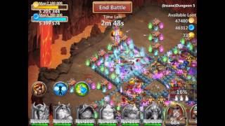 getlinkyoutube.com-Castle Clash Insane Dungeon 5-7 with f2p heroes