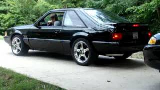 getlinkyoutube.com-1990 Ford mustang LX 5.0 with FRPP B303 and SLP LM1s with tail pipes