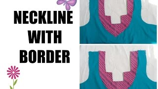 getlinkyoutube.com-HOW TO MAKE NECKLINE WITH BORDER