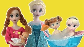 Frozen Full Movie 2 in English! Elsa + Anna Dolls Playing in Snow, Bath time +More