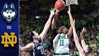 getlinkyoutube.com-Notre Dame vs. UConn Women's Basketball Highlights (2016-17)