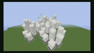 getlinkyoutube.com-Hacer una ciudad en 15 segundos!!! Ciudad comando #Minecraft