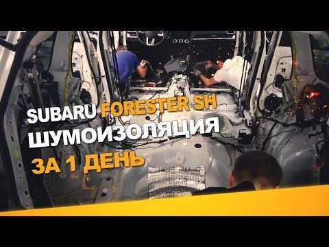 Шумоизоляция Subaru Forester SH за 1 день. АвтоШум. Уровень Норма.
