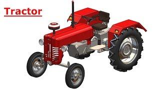 getlinkyoutube.com-Solidworks tutorial   Sketch Tractor in Solidworks   Solidworks