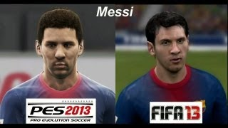 getlinkyoutube.com-PES 2013 vs FIFA 13 FACE Comparison Barcelona FC