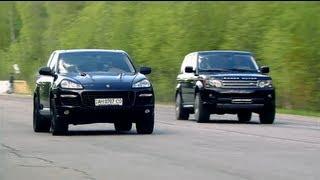 getlinkyoutube.com-Porsche Cayenne Turbo Gemballa vs Land Rover RRS vs Mercedes-Benz ML63 AMG