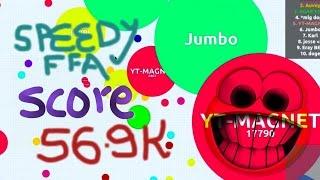 getlinkyoutube.com-Agar.io-Speedy FFA with 56.9K score | Agario Magnet