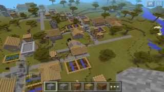getlinkyoutube.com-SEED CON ALDEA ENORME - ¿La aldea más grande en MCPE? | Minecraft PE