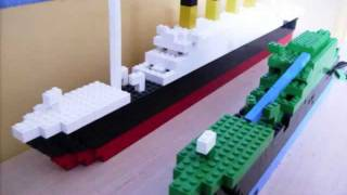 getlinkyoutube.com-Lego Titanic wreck and normal model