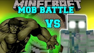 getlinkyoutube.com-THE HULK VS EMERALD HULK - Minecraft Mob Battles - Mod Battle - Minecraft Mods