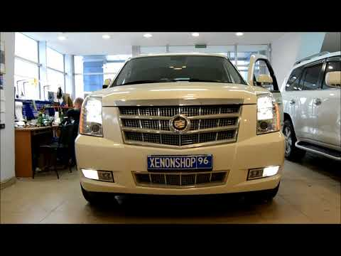 Протюнинговали свет на Cadillac Еscalade